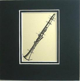 Art Work-Small 5 x 5 - Clarinet