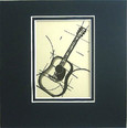 Art Work-Small 5 x 5 - Guitar-Acoustic