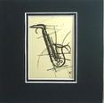 Art Work-Small 5 x 5 - Saxophone