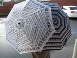 Umbrella-Keyboard with Sheet Music