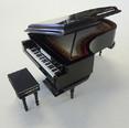 Miniature Grand Piano with Case