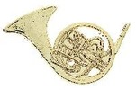 Brooch-Mini French Horn