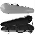 Violin Case-Kreisler Fiberglass Compact - Silver