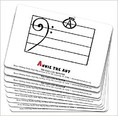 Bass Clef Monster Flash Cards -  Classroom