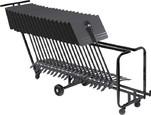 Manhasset Storage Cart-25 Stands* - 1