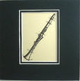 Art Work-Small 5 x 5 - Clarinet
