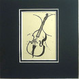Art Work-Small 5 x 5 - Double Bass