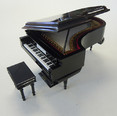 Miniature Grand Piano with Case